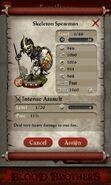 Skeleton Spearman (evolved from 3 level 1 Skeleton Warriors)