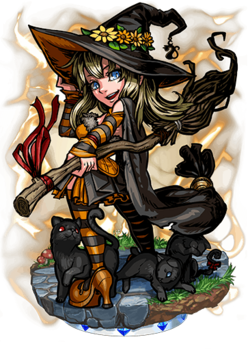 Alyssa, Black Cat Witch Figure