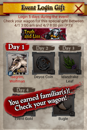 Truth and Lies Event Login