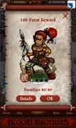 Teculoseh, Warrior Point Reward