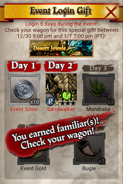 Desert Jewel Login Bonus