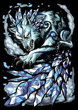 Hati, Icetail Wolf Figure
