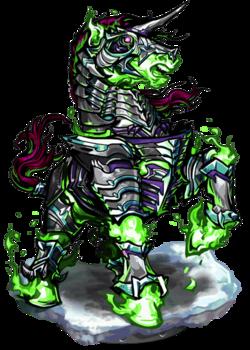 Armored Unicorn Figure