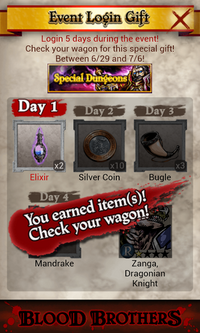 SD13 Event Login Gifts