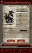 Dwarven Engineer II (evolved from 2 level 1 Dwarven Engineers)