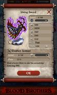 Living Sword Base Stats