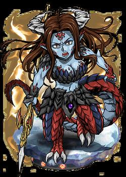 Laola, Demiwyrm Spearbearer Figure
