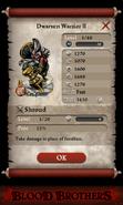 Dwarven Warrior II Base Stats