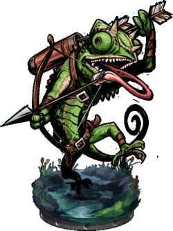 Lizardman Hunter + Figure