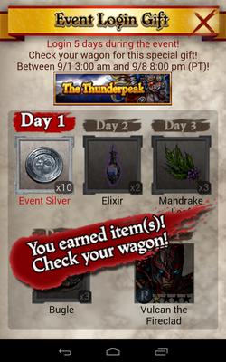 The Thunderpeak Login Bonus