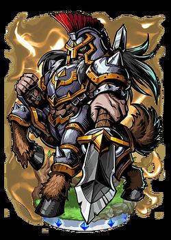Dryas, Centaur Knight Figure