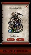 Macaca, Dog Rider Pact Reveal