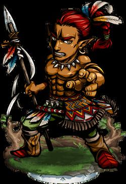 Teculoseh, Warrior Figure