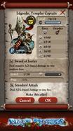 Edgardo, Templar Captain Max Stats
