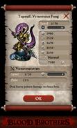 Tepaxtl, Venomous Fang Base Stats