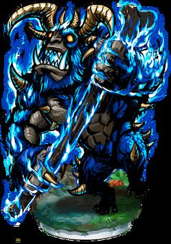 Enraged Flame Ogre Figure
