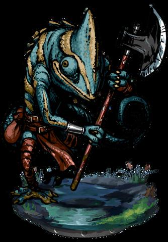 File:Lizardman Tribal Warrior II + Figure.png