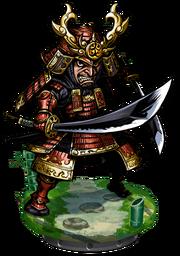 The Red Samurai Figure