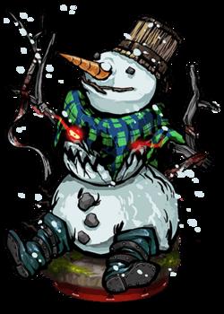 Friendly Snowman Figure