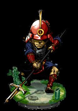 Ashigaru Commander II + Figure