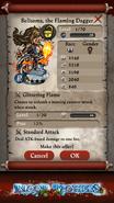 Belisama, the Flaming Dagger Base Stats