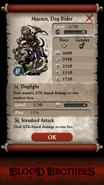 Macaca, Dog Rider Base Stats