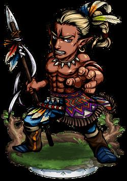 Teculoseh, Warrior II Figure