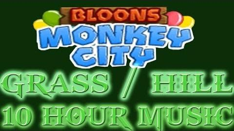 Bloons Monkey City - 10 hours of grass hill terrain music (Ninjakiwis best song)