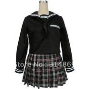 Black-Long-Sleeves-Sailor-School-Uniform-Cosplay-Costume-Free-Shipping