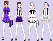 Bell and bunny anime school style by azulmimi99-d4px5nx