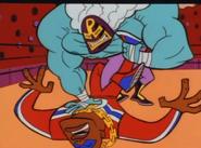 Capital G defeated by Rasslor