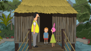 S3E22.04 Bob, Louise, and Rudy at the Stilt Hut