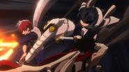 Tenya saves Shoto from Stain