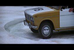 Polizeiwagen Eis