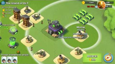 The Island of Dr T Level 10 How to Destroy Boss Bases Boom Beach