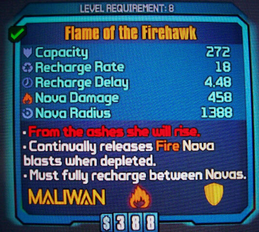 File:Maliwan Flame of the Firehawk Shield.jpeg