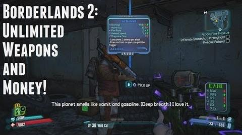Video new borderlands 2 unlimited weapons and money no mods video new borderlands 2 unlimited weapons and money no mods hacks borderlands wiki fandom powered by wikia ccuart Gallery