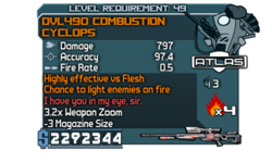 DVL490 Combustion Cyclops