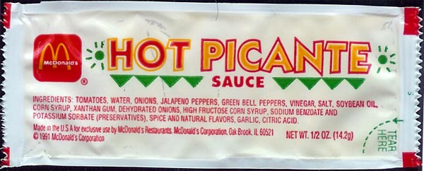 File:McDonald's Hot Picante sauce packet 1991.jpg