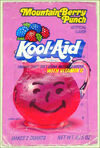 Kool-Aid Mountain Berry Punch flavor packet 1986