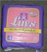 Luvs Ultra Leakguards diapers for girls size 4 bag 1994