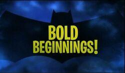 Bold Beginnings!