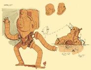 Martian Robot and Hideout Exterior