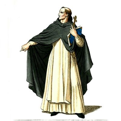 Medieval Priest, Friar, or Monk (1)