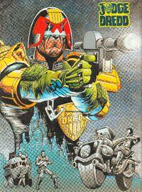 Dredd and Mega-City One pin-up