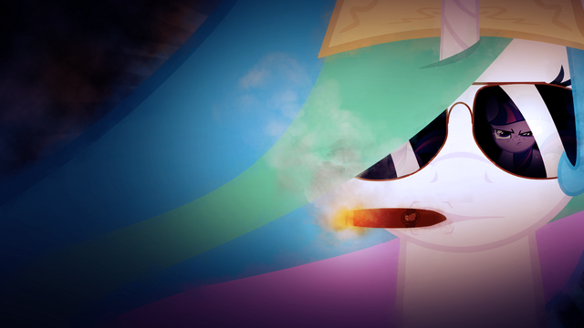 File:FANMADE Princess Celestia staring at Twilight Sparkle.png