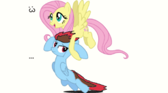 Being carried by Fluttershy