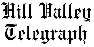 Back to the future II - Hill Valley Telegraph logo