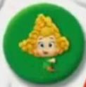 Deema in a green bubble