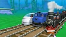 Triple track train race again
